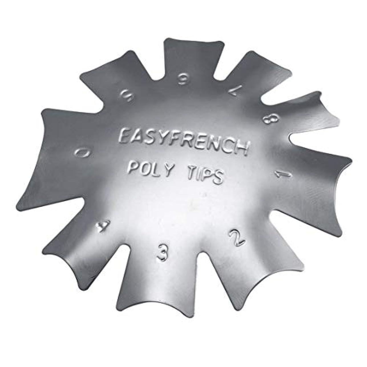 ご覧くださいニッケル抑圧3ピース/セット丈夫な金属ステンレス鋼フレンチマニキュアモデリング整形プレートクリスタルネイル作りスタンピングプレート