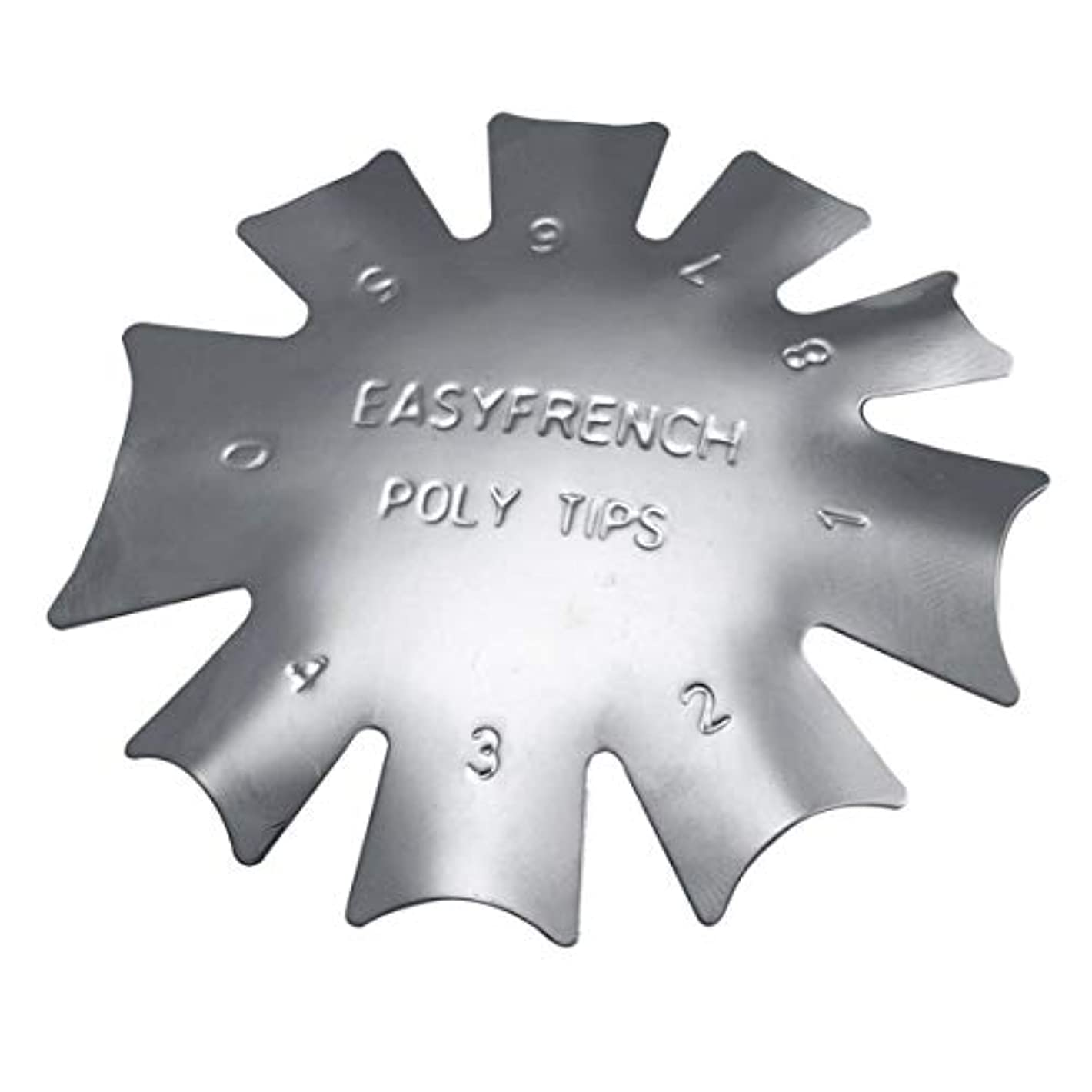 船員ドリンク酔う3ピース/セット丈夫な金属ステンレス鋼フレンチマニキュアモデリング整形プレートクリスタルネイル作りスタンピングプレート
