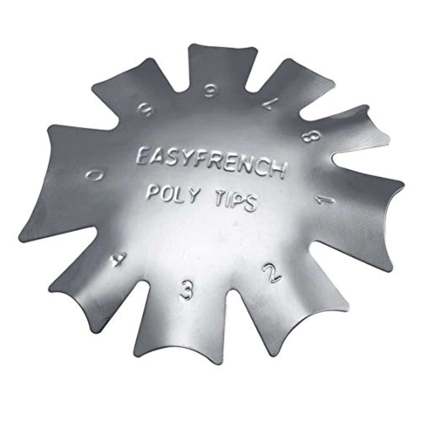 3ピース/セット丈夫な金属ステンレス鋼フレンチマニキュアモデリング整形プレートクリスタルネイル作りスタンピングプレート