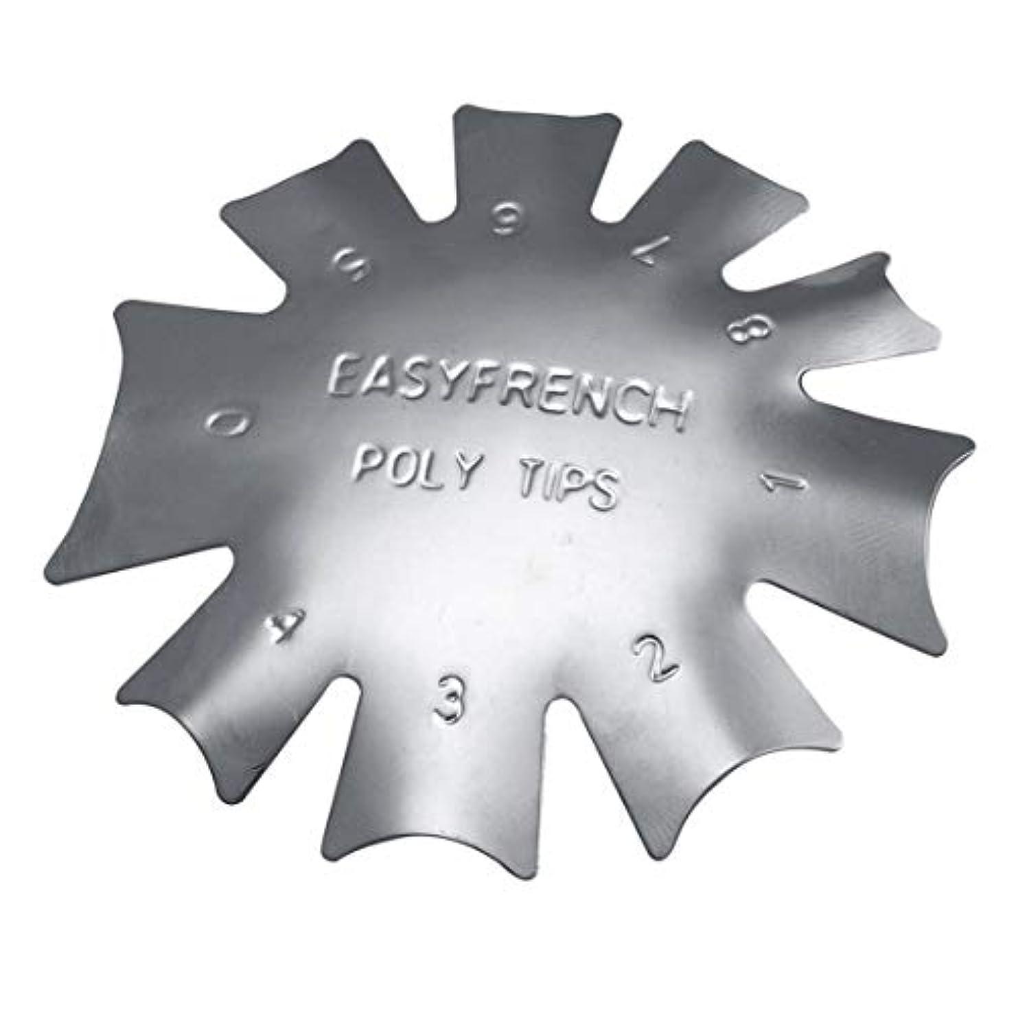 後方に補充改善3ピース/セット丈夫な金属ステンレス鋼フレンチマニキュアモデリング整形プレートクリスタルネイル作りスタンピングプレート