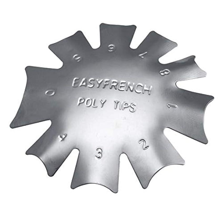 栄光のウェーハ化学3ピース/セット丈夫な金属ステンレス鋼フレンチマニキュアモデリング整形プレートクリスタルネイル作りスタンピングプレート