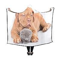JKDLER 膝掛け 寝ている 犬 猫 フード付き毛布 肩掛け 着る毛布 ブランケット 帽子付きマント 部屋着 ルームウェア フランネル 可愛い 柔らかい レディース 大きい
