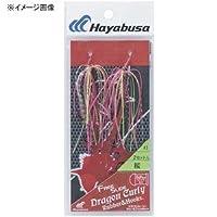 ハヤブサ(Hayabusa) シングルフック 無双真鯛 フリースライド ドラゴンカーリー ラバー&フックセット 6号 2本 黒海老 #14 SE137