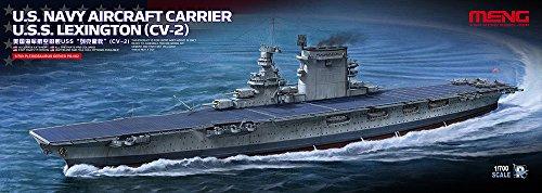 モンモデル 1/700 アメリカ海軍航空母艦レキシントン CV-2 色分け済みプラモデル MENPS-002