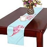 GGSXD テーブルランナー 面白い フラミンゴ クロス 食卓カバー 麻綿製 欧米 おしゃれ 16 Inch X 72 Inch (40cm X 182cm) キッチン ダイニング ホーム デコレーション モダン リビング 洗える