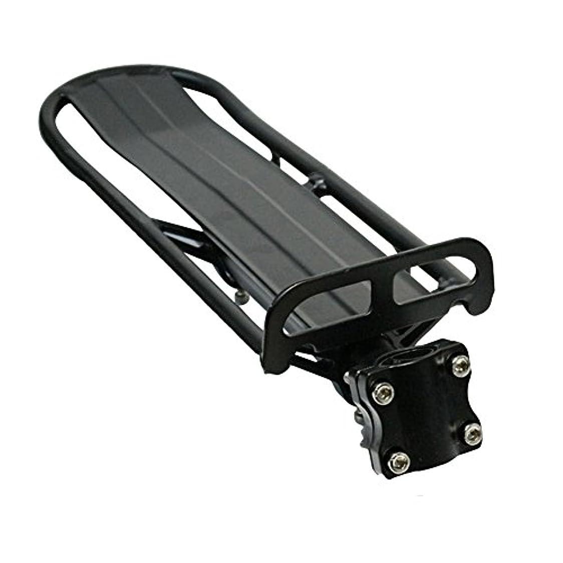 家主喜んでコスチュームYideaHome 自転車用荷台 後ろ付け 軽量リアキャリア 簡単取り付け バイク キャリア アルミ製 ブラック