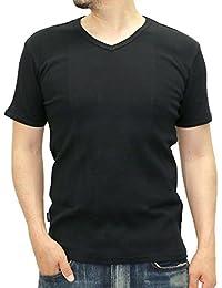 (アビレックス)AVIREX テレコ Vネック Tシャツ メンズ 半袖