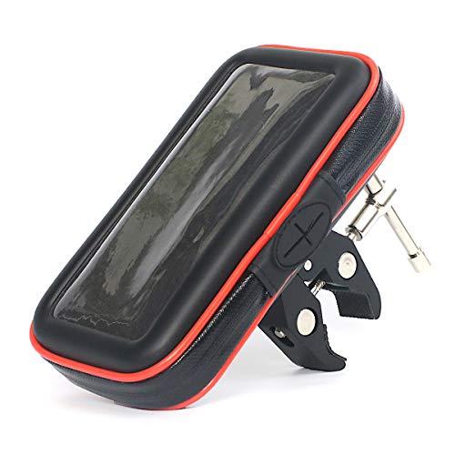 ADELPHOS-02s スマホホルダー 自転車 バイク 防水 アルミ バイク用 スマートフォンホルダー スマホスタンド マウント クリップ ホルダー オートバイ 原付 バイク用品 強力固定 振れ止め 脱落防止 GPSナビ 携帯 カメラ スタンド 360度回転 iPhone HUWEI Xperia Galaxy android 多機種対応 落下防止ワイヤー付 (Lサイズセット)