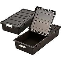JEJ ベット下収納ボックス 2個組 ブラウン BR (日本製) 9504290