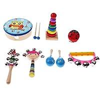 Baosity 全3種類 打楽器 子ども 木製 木製打楽器玩具 楽器玩具 パーカッションの音 - 8個