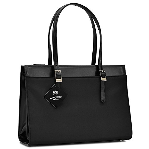 【 AVECALDO リクルートバッグ レディース A4 】 補助バッグ付 ビジネスバッグ 就活 出張 AV-E120(ブラック)