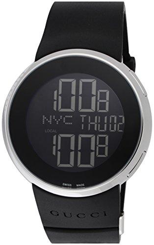 腕時計 メンズ SS デジタル ブラックラバーストラップ YA114202 グッチ
