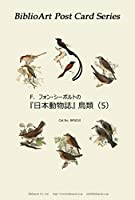 BiblioArt Post Card Series シーボルト 『日本動物誌』鳥類(5) 6枚セット(解説付き)