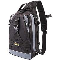 BENYUE ルアーバッグ ワンショルダーバッグ 多機能バッグ タックルバッグ アウトドア用 釣り用 撮影用 1000D防水ナイロン(ブラック、迷彩)