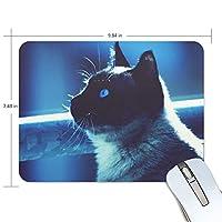Jiemeil マウスパッド 高級感 おしゃれ 滑り止め PC かっこいい かわいい プレゼント ラップトップ MacBook pro/DELL/HP/SAMSUNG などに 猫 夜