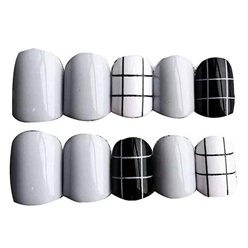 論争の的つかいますパングレー/ブラック 丸い偽爪人工偽爪のヒント 装飾