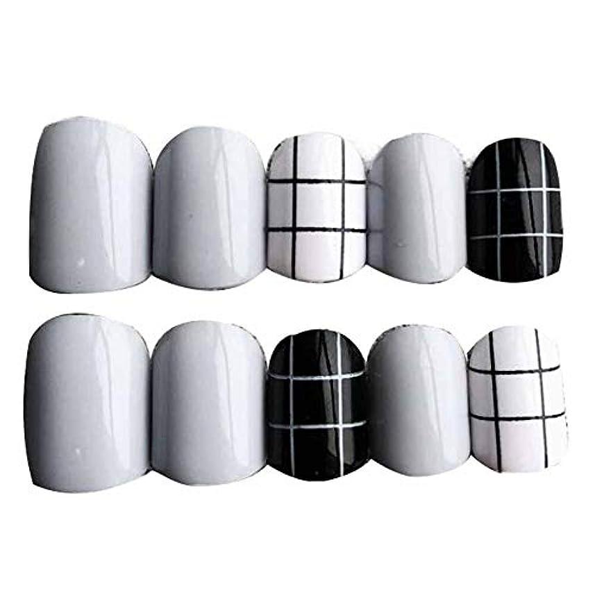 第三上級イブニンググレー/ブラック 丸い偽爪人工偽爪のヒント 装飾