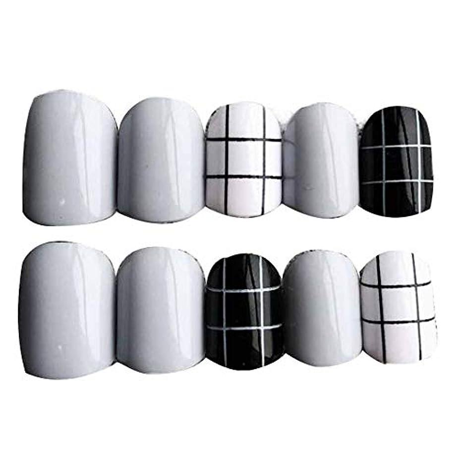 聖なるローズアドバンテージグレー/ブラック 丸い偽爪人工偽爪のヒント 装飾