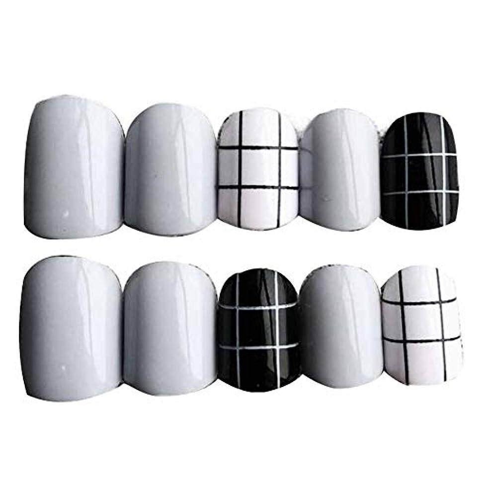 転送親未来グレー/ブラック 丸い偽爪人工偽爪のヒント 装飾