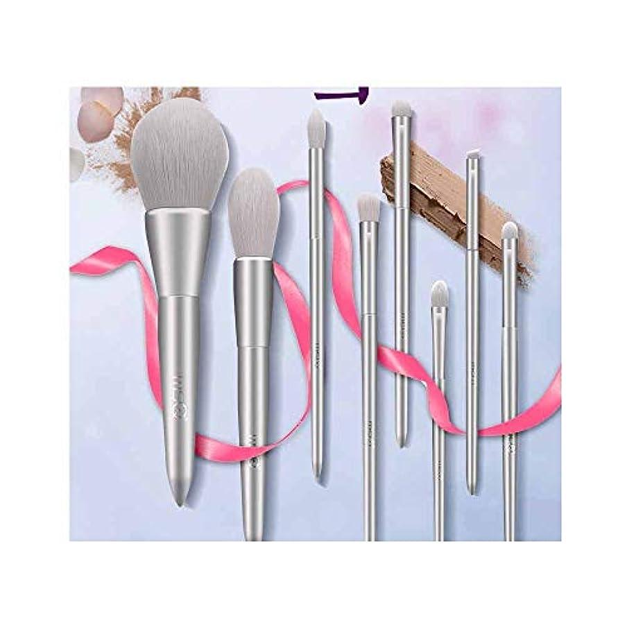 スキッパーレーダー黒Chenjinxiang001 化粧ブラシ、8つの化粧ブラシセット、プロの化粧道具、化粧バッグ付き、屋外旅行に持ち運びが簡単,肌を刺激しません (Color : Silver)