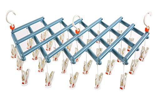 CONNECT-J ハンガー 洗濯 物干し 引っぱりハンガー ピンチハンガー ラクラク 回転ピンチ 29ピンチ YJ-KS00(ブルー)