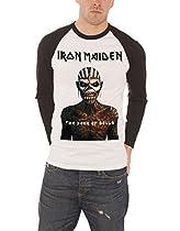 Iron Maiden アイアンメイデン Tシャツ Book Of Souls ブック・オブ・ソウルズ 公式 メンズ ホワイト 白 野球シャツ