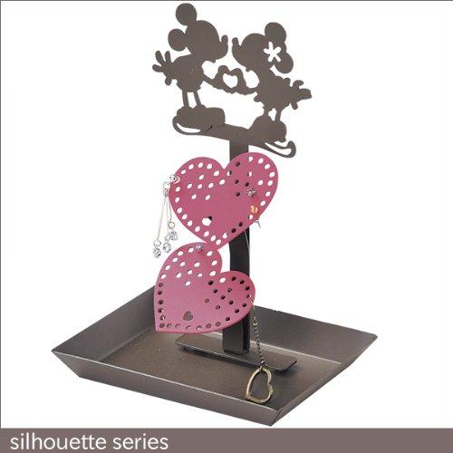 [해외]귀걸이 스탠드 실루엣 아이언 (철) 제 실루엣 미키 마우스 & 미니 마우스 디즈니/Pierced Stand Silhouette Iron (Iron) Silhouette Mickey Mouse & Minnie Mouse Disney