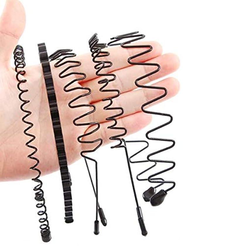 踏みつけ補助共感するヘアクリップ、ヘアピン、ヘアグリップ、ヘアグリップ、男性のヘッドバンドヘッドバンド女性のシンプルな波ヘアピンアイアンヘアピンボーイズバックスポーツヘアヘッドバンド潮5枚潮男性用スーツ(1# - 5#) (Color :...