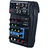 KESOTO 4-Channel Mixer Mixer + Stereo USB/Bluetooth/Sound Card