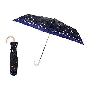 ディズニー 折りたたみ傘 手開き 日傘/晴雨兼用傘 アリエル マリンバブル 全4色 6本骨 55cm UVカット 90%以上 グラスファイバー骨 85579