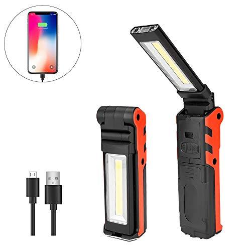 【充電式作業灯】Linkax Ledワークライト USB充電式 ハンディライト折り畳み式 マグネット機能搭載 夜間作業(大)
