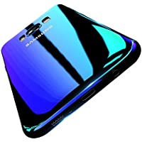 FLOVEME Galaxy S8ケース 勾配色カバー 色グラデーション変化 [衝撃吸収 超薄型 安心交換保証] 落下防止 薄型軽量 魅力感 電波影響/色褪無し エコ素材 変色ケース (S8, ブルー)