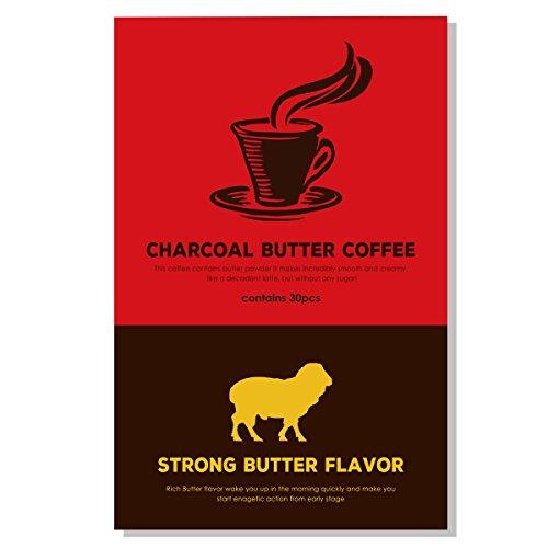 チャコール バターコーヒー 活性炭と4種のオーガニック原料入...