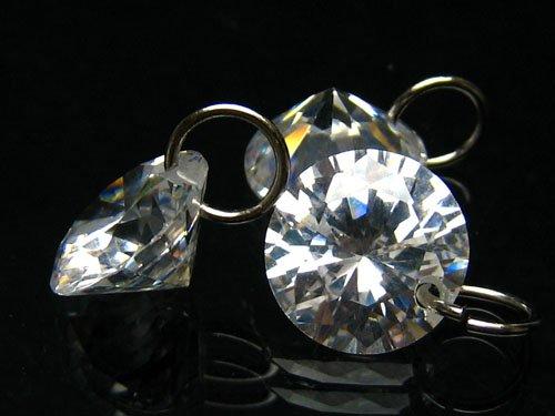 [해외]해피 봄 Happy Bomb 큐빅 CZ 다이아몬드 라운드 10mm 나석 강있는 2 개 세트 스트랩 펜던트 귀걸이 만들기 용 파워 스톤 10 밀리/Happy Bomb Happy Bomb Cubic Zirconia CZ Diamond Round Brilliant Cut 10 mm Loose Stone with Can 2 Set Strap Pen...