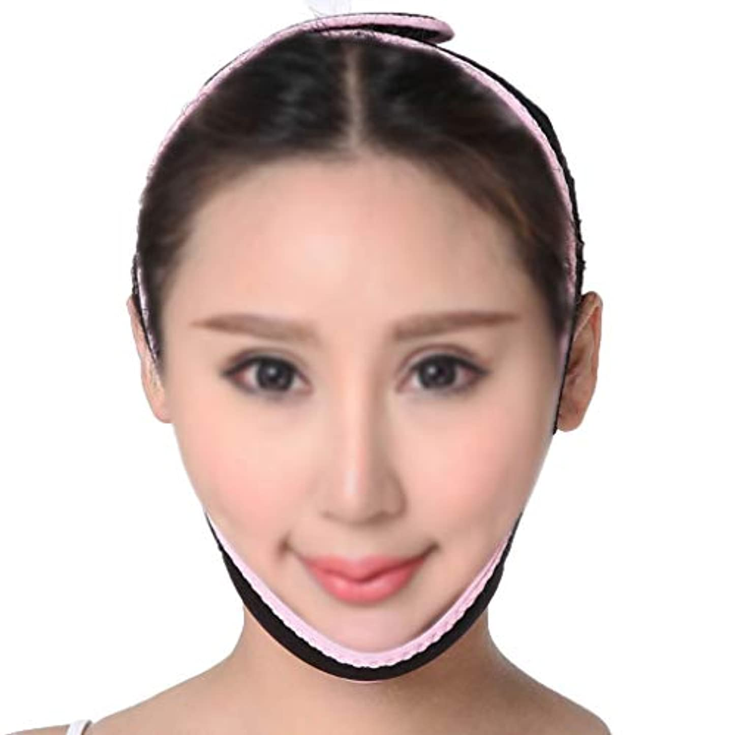 GLJJQMY 引き締めマスク薄い顔面マスクフェイスリフティング器具V顔薄い顔面包帯薄い顔マッサージ器薄い顔面マスクフェイスリフティング装置 顔用整形マスク