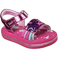 Official Brand Skechers Twinkle Toes Sunnies Sandal Child Girls Pink Flip Flop Thong Beach Shoe