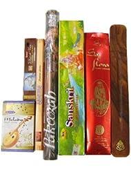 上級者に インド香&お香立て インドの雑踏ぶっ濃いセット