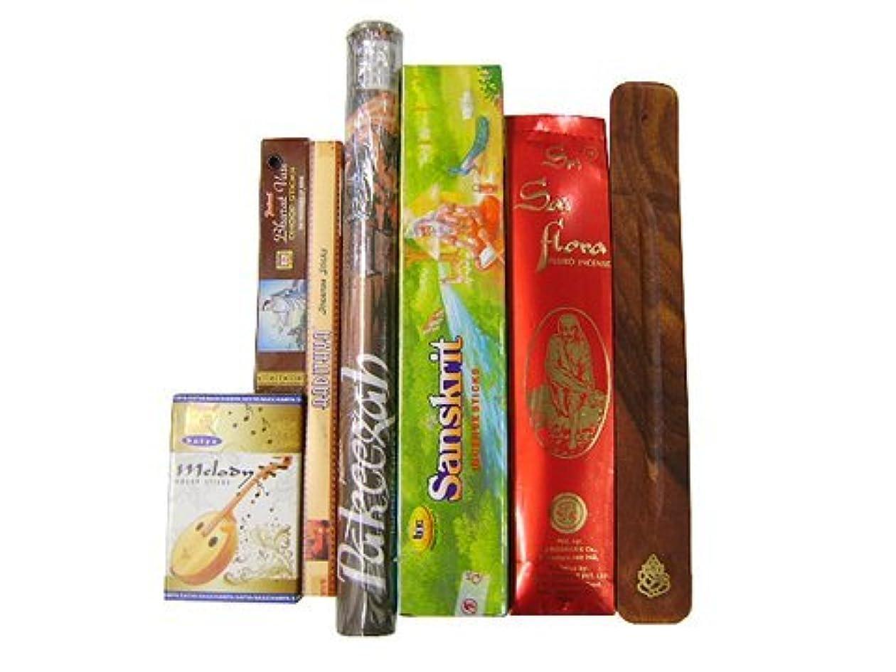 スリップシューズ放散するかる上級者に インド香&お香立て インドの雑踏ぶっ濃いセット