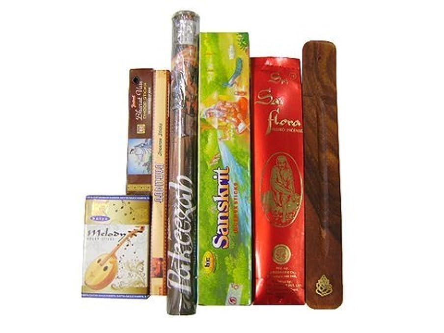 イブニング管理生き残り上級者に インド香&お香立て インドの雑踏ぶっ濃いセット