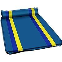 自動インフレータブルクッション 広げられた厚い屋外テント防湿マット キャンプキャンプ用寝具 (Color : ブルー)