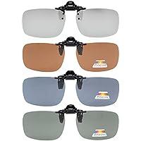 "Eyekepper Flip-up Clip-on Sunglasses Polarized 2 3/8""x1 11/16"" 4-Pack Metal Glasses Clip"