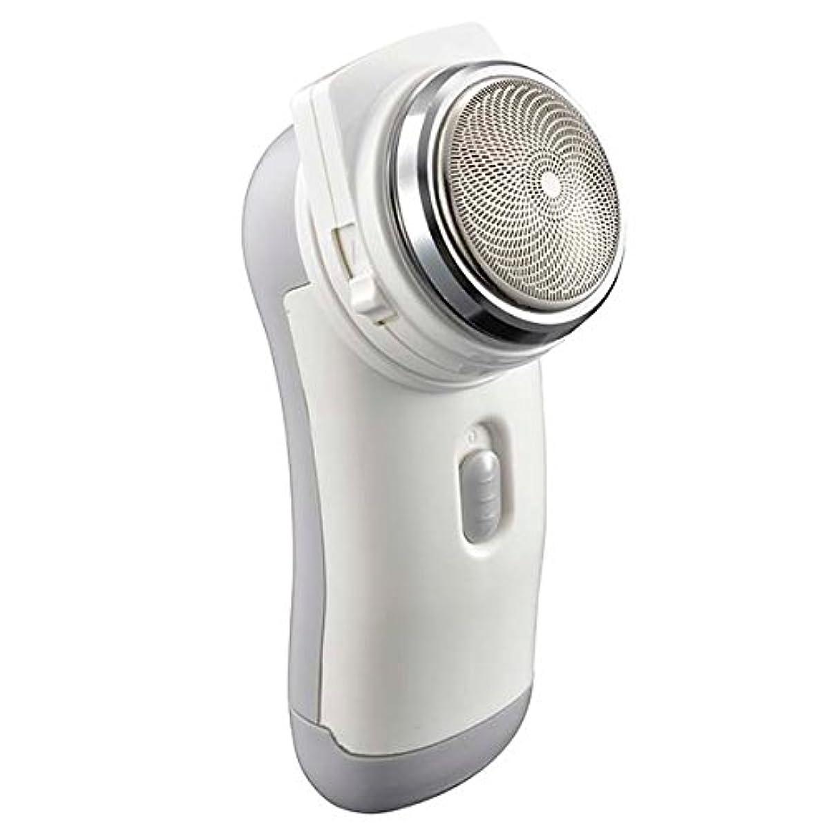 シェーバー メンズ ポケットシェーバー 携帯便利 静音回転式 もみあげ対応 電池式 キワゾリ刃付き 高性能シェーバー 髭剃り ひげそり 男性用 回転式ポケットシェーバー プレゼントにも最適