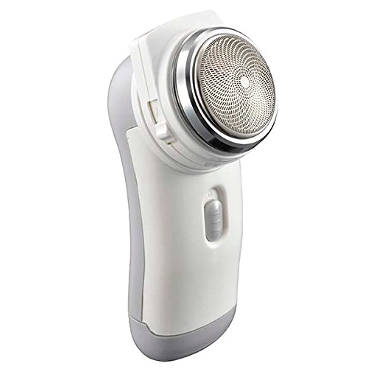 行二探すシェーバー メンズ ポケットシェーバー 携帯便利 静音回転式 もみあげ対応 電池式 キワゾリ刃付き 高性能シェーバー 髭剃り ひげそり 男性用 回転式ポケットシェーバー プレゼントにも最適