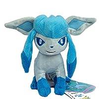 WAREHOUSEDEALS Glaceon Pokemon Pokedoll Ice-Type Character Glacia Plush Toys Doll Stuffed Soft [並行輸入品]