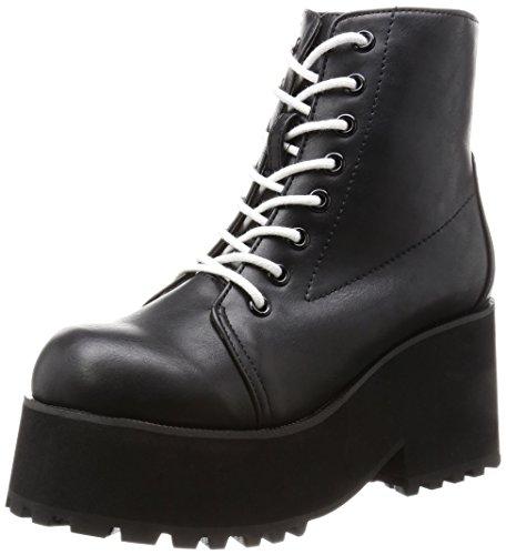 [ウィゴー] ブーツ 厚底レースアップブーツ BR16WN12-LG0023 111 ブラック JP M(23.5cm)