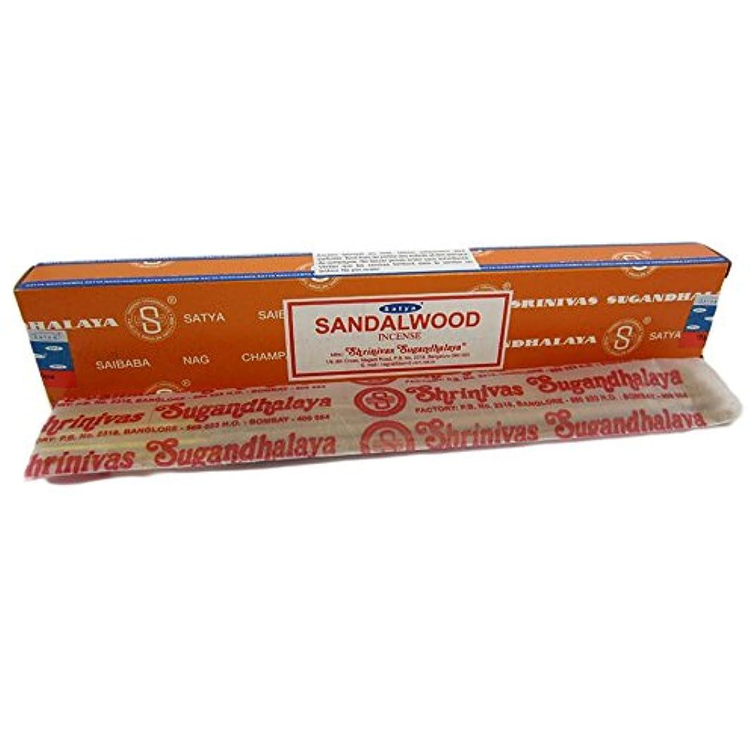 平らなガイダンス狂人Sandalwood Nag Champa Incense Sticks 15g Box