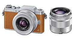Panasonic ミラーレス一眼カメラ DMC-GF7ダブルズームレンズキット 標準ズームレンズ 望遠ズームレンズ付属 ブラウン DMC-GF7W-T