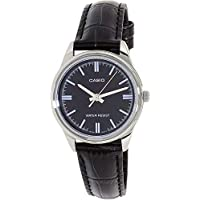 Casio Women's LTP-V005L-1A Black Genuine Leather Band Analog Watch