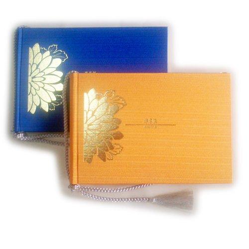 [해외]상품 2 권 세트 결혼식 방명록 방명록 (써니 오렌지 | 블루)/Discount 2 set wedding celebrity book guestbook (Sunny Orange | Blue)