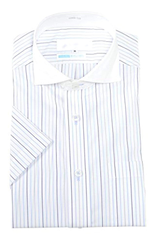 陸軍ワイン輪郭(アウトレットファクトリー)OUTLET FACTORY 半袖ワイシャツ クレリックシャツ ワイドカラー 半袖 Yシャツ LL